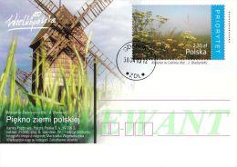 M POLAND - Postcard - 2013.04.30. Cp 1642 - The Beauty Of Polish Land (monastery In Lubin) Windmill In Swierczyn - Used - Ganzsachen