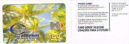 CAPO VERDE  (CAPE VERDE)   -  TELECOM  (CHIP) - TREES           - USED -  RIF. 386 - Cape Verde