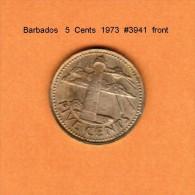 BARBADOS   5  CENTS   1973   (KM # 11) - Barbades
