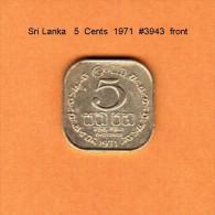 SRI LANKA   5  CENTS   1971   (KM # 124) - Sri Lanka