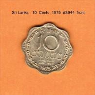 SRI LANKA   10  CENTS   1975   (KM # 140) - Sri Lanka