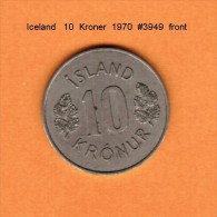 ICELAND   10  KRONUR   1970   (KM # 15) - Iceland