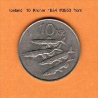 ICELAND   10  KRONUR   1984   (KM # 29.1) - Iceland
