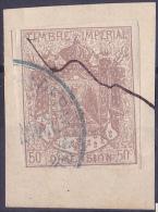11181# ALSACE LORRAINE 1870 MANTEAU IMPERIAL SURCHARGE 50 Centimes BRUN - Revenue Stamps