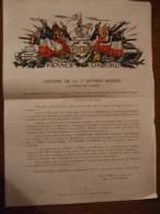 Document 5em DB France D'abord Citation Du General De Gaulle Du 16 Mars 1945 - Documenten