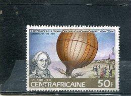 CENTRAL AFRICAN REPUBLIC. 1983. SCOTT 608. MANNED FLIGHT BICENTENARY. J. MONTGOLFIER AND HIS BALLOON, 1783 - Centrafricaine (République)