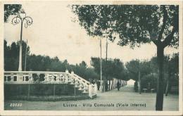 LUCERA -  Villa Comunale( Viale Interno) - FP - VIAGGIATA - - Foggia