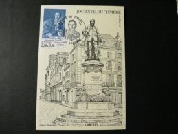 JOURNEE DU TIMBRE LANGRES STATUE DIDEROT 1984 - Journée Du Timbre