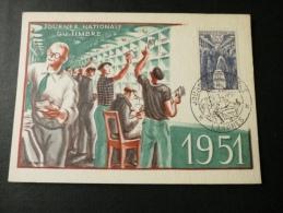 JOURNEE DU TIMBRE WAGON POSTAL 1951 - Journée Du Timbre