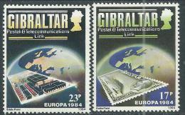 Gibraltar N° 483 / 84 X  Europa, Les 2 Valeurs  Trace De Charnière Sinon TB - Gibraltar