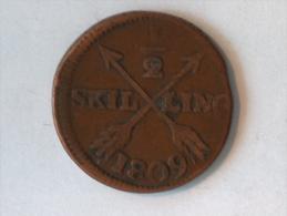 SUEDE 1/2 SKILLING 1809 - Suède