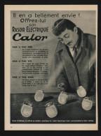 Pub 1954 Rasoir Electrique CALOR Lyon Monplaisir - Publicités