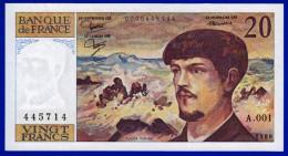 UN BILLET 20 FRANCS DEBUSSY NEUF TYPE 1980 ALPHABET A.001 N° 445714 DE1980 - 1962-1997 ''Francs''