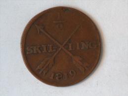 SUEDE 1/2 SKILLING 1819 - Suède