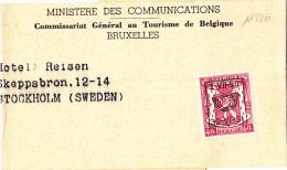 11226# BELGIQUE PETIT SCEAU PREOBLITERE 1-VII-50 / 30-VI-51 / BANDE IMPRIME Pour STOCKHOLM SUEDE SVERIGE SWEDEN - Préoblitérés