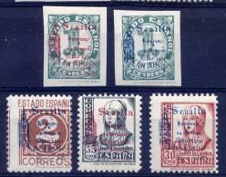 PATRIOTICOS   Sevilla  Nº  80 / 84  ( Sin  Charnela )-002 - Emisiones Nacionalistas