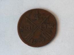 SUEDE 1/4 SKILLING 1806 - Suède