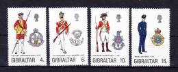 GIBRALTAR   1974 ,  Military Uniforms  ,  Y&T  #  308/11  , Cv  9.00  E , ** M N H , V V F - Gibilterra