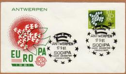 Enveloppe Cover Brief FDC 1193 Europa Antwerpen Sodipa - FDC