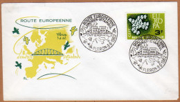 Enveloppe Cover Brief FDC 1193 Europa Route Européenne Londres Istambul Fléron - FDC