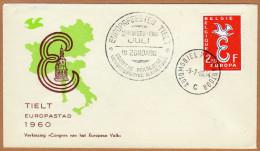 Enveloppe Cover Brief FDC Europa 1064 Tielt Europastad 1960 Automobile Postkantoor - FDC