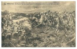 Cpa: WATERLOO Gardes Anglaise Et De Brunswick Repoussent La Cavalerie Française, 16 Juin 181 (Napoléon, Militaire)  Nels - Other Wars