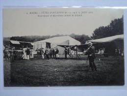 C P A ANIMEE MEETING AVIATION EN 1912 MOUTHIER ET OLIVARES AVANT LE DEPART A BOURG - Autres