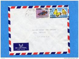 MARCOPHILIE-lettre-ZAÏRE-cad-1977-2  Stamps-N°890 Butterfly--papillon-colotis-908-poisson-nothobranchus-pour Suisse - Autres