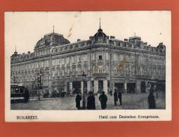 BUKAREST Hotel Zum Deutschen Kronprinz  Cpa Année 1919  Animée   EDIT   VerlagMAIER & STERN - Romania