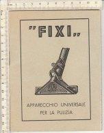 """PO3757C# Brochure APARECCHIO UNIVERSALE PER LA PULIZIA """"FIXI"""" Anni '50 - Scienze & Tecnica"""
