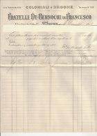 PO3770C# FATTURA CARTA INTESTATA - COLONIALI E DROGHE F.lli BERNOCHI 1913 - Italia