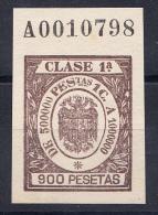 ESPAÑA 1942. REGIMEN DE FRANCO  .TIMBRE POLIZAS PARA LETRAS DE CAMBIO .900 PESETAS SES  354 - Fiscaux