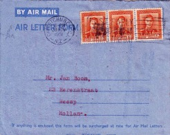NEW ZEALAND 1951, 3 Fach Frankierung Auf LP-Brief, Gel.v. Christcurch Nach Weesp Holland - Neuseeland