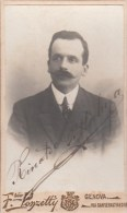 """FOTOGRAFIA PHOTOGRAPHY RITRATTO D´EPOCA ANTE 1900/1920- 6,20 X 10,50-PHOTOGRAPHE """"F.PONZETTI GENOVA - Foto"""