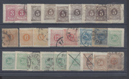 SUEDE - 1874 - PETIT LOT DE TIMBRE-TAXE OBLITERES Et NEUFS - O - X - (X) - ENTRE N° 1 & 10 - - Suède