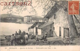 HENDAYE QUARTIER DE SANTIAGO EMBARCADERE POUR IRUN ATTELAGE BASQUE 64 - Hendaye