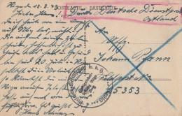 Dt. Dienstpost Ostland AK Riga 12.8.43 - Besetzungen 1938-45