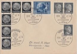 DR Brief Mif Minr.6x 512,3x 781,820 SST Hüfingen 28.10.42 - Briefe U. Dokumente