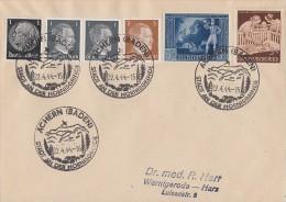 DR Brief Mif Minr.512,2x 781,782,820,869 SST Achern 22.4.44 - Deutschland