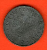 ** 10 Reichspfennig 1940 B ** TERCER /  THIRD REICH - KM 101 - Zinc / Zink - ALEMANIA / DEUTSCHLAND / GERMANY - 10 Reichspfennig
