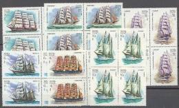 STAMP USSR RUSSIA Mint (**) 1981 Set Sail Ship Fleet Kruzenstern Vega Tovarisch - 1923-1991 URSS