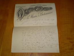 Gravure Médailles, A La Fileuse: Marie & Bretonnière , Coutils Grand Teint à Laval - Francia