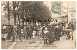 22 - GUINGAMP - Marché Aux Vaches ++++ Mlle Philippe, Guingamp, #6 ++++ Vers Malakoff, 1907 ++++ RARE / PAS Sur Delcampe - Guingamp