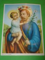 S.GIUSEPPE - Poster 26 X 19 - Ed G Mi - SERIE CL. N° 137 - Santino/quadretto - EGIM Edgimi - Religion & Esotérisme