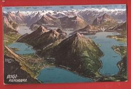 CDS1-38 Rigi-Panorama !  Gelaufen In 1910 - SZ Schwyz
