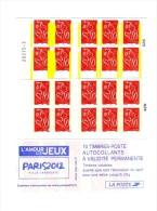 Lot Des 2 Carnets Lamouche YT 3744-C1 Avec Bandes De Phosphore Jaunes Et Blanches Soudées . Superbe , Voir Scans - Usage Courant