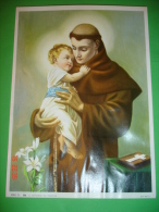 S.ANTONIO Da PADOVA  - Poster 26 X 19 - Ed G Mi - SERIE CL. N° 206 - Santino/quadretto - EGIM Edgimi - Religione & Esoterismo