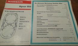 TRAINS MINIATURES: Catalogue MARKLIN HO Vers 1960-70 - HO Scale