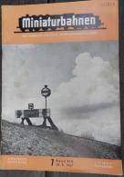 TRAINS éLECTRIQUES MINIATURES: Revue MINIATURBAHNEN Mai 1967 (en Allemand) - HO Scale