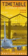 # VENICE AIRPORT TIMETABLE SUMMER 2008 Leaflet Aviation Flight Horaire Flugplan Orario Indicateur Calendario Venezia - Horaires